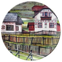 Transylvania, Romania, Picturesque Painted Scenery Dinner Plate