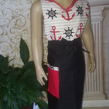 Retro - vintage -50's housewife style apron