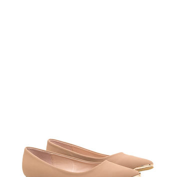 Good Point Faux Nubuck Flats