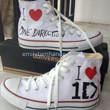 ICIKGQ8 one direction converse custom converse sneakers 1d inspired 100 hand paint