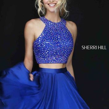 Sherri Hill Short Chiffon Two Piece Dress 11290