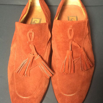 Pierre Cardin Rusty Suede Leather Loafers Shoes Men's Size 10.5