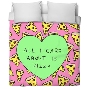All I care About Is Pizza Comforter