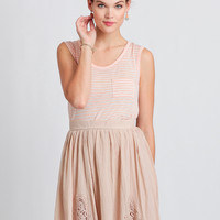 New In Town Skirt In Beige
