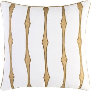 Graphic Stripe Pillow by Candice Olson White