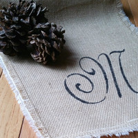 Burlap Table Runner Rustic Table Decor Rustic Wedding Decor