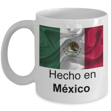 Hecho en México - coffee / hot chocolate / tea mug - 11 oz ceramic cup