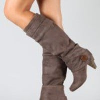 Delicious Patsy-S Button Cuff Knee High Boot-33.90