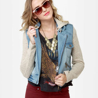 Billabong Rev Up Jacket - Denim Jacket - Motorcycle Jacket - $89.50