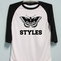 Harry Styles Tattoo Shirt One Direction Tshirt Long Sleeve Unisex Baseball Shirts Raglan Jersey TShirt Black White Tee Men Women S M L