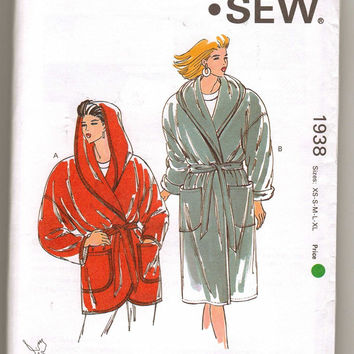 Kwik Sew Misses' Loose Fitting Wrap Coat with Hood
