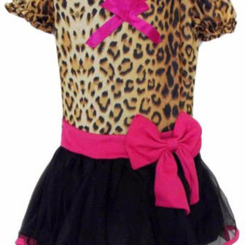 Leg Avenue Girls Leopard Dress Up Halloween Costume Leg Warmers Headband