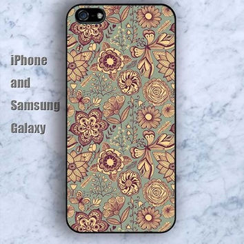 Vintage old pattern iPhone 5/5S case Ipod Silicone plastic Phone cover Waterproof