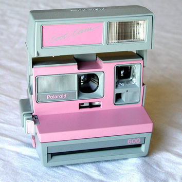 Polaroid Pink Cool Cam 600 - Film Tested - Vintage Instant Camera & Neckstrap