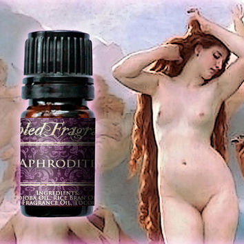 Aphrodite Perfume Oil: 5mL Amber Bottle, Love Goddess, Sexy Fruit Artisan Fragrance, Strawberry Champagne, Scented Body Oil, Alcohol Free