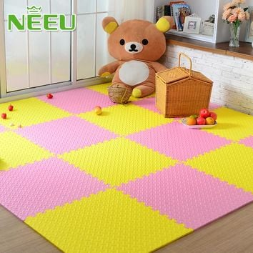 9pcs Leaves Pattern Soft Baby EVA Foam Play Mat Kid Toys Puzzle Mats Baby Gym Floor Jigsaw Rug Mats 31 x 31 x 1.2cm for Unisex