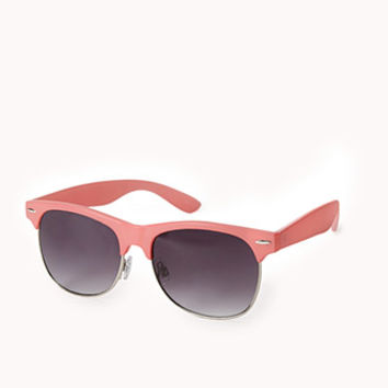 F1358 Half-Frame Square Sunglasses