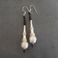 Ethiopian Tribal Earrings, Dangle African Women Jewelry