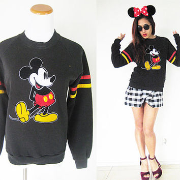 Vintage black Mickey Mouse Disney pullover jumper