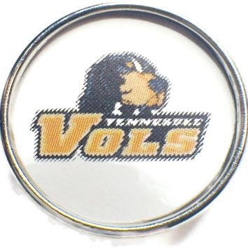 Tennessee Volunteers College Logo Fashion Snap Jewelry University Snap Charm