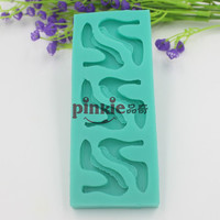 High-heeled Shoes Shaped  fondant cake silicone mold chocolate clay Resin mould Sugarcraft Cake Decorating Tools