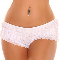 White Ruffle Panty with Bow