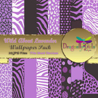 80% OFF Sale WILD About Pink Digital Wallpapers for Mobile Devices, Instant Download, clipart, vector graphic, Zebra Leopard Animal Print