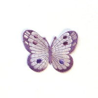 Light Purple Papillon Applique/Butterfly Embroidery