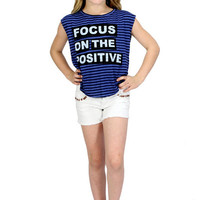 Dirtee Hollywood Focus On The Positive Muscle Tee | Mod Angel