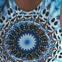 Blue Dream Cut-Out Festival Top