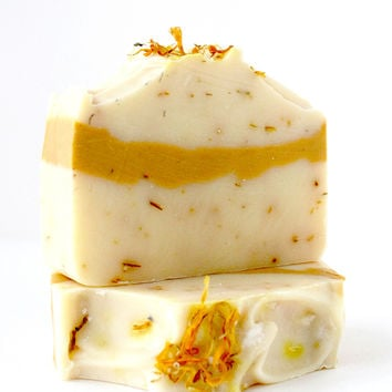 Lemongrass Calendula Handcrafted Soap Bar