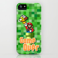 Mario Brothers VS 8 bit Flappy Bird apple iPhone 4 4s, 5 5s 5c, iPod 4,5 & samsung galaxy s4 case cover