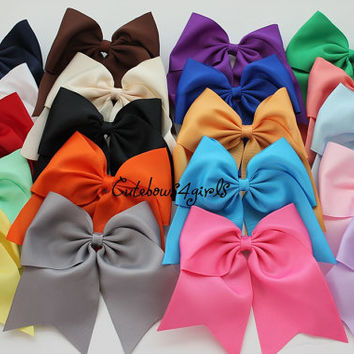 1 cheap cheer bow - white cheer bow - gray cheer bow - black cheer bow - coral cheer bow - maroon cheer bow - royal blue cheer bow - pink
