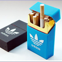 Adidas Silicone Elastic Cigarette Case Cover Leisure Pocket Rubber Cigarette Box
