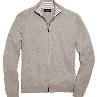 Supima® Zip-Front Cardigan - Brooks Brothers