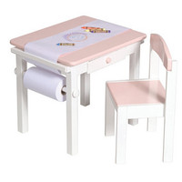 Guidecraft Art Table & Chair Set PINK - G98048