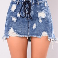 Clarisa Denim Skirt - Vintage Blue