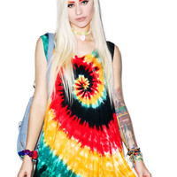 Cali Kind Soul Rebellion Circle Top Tie Dye One