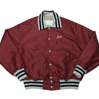 "Vintage 1980s ""Bob"" Maroon Jacket Made in USA Mens Size Large"