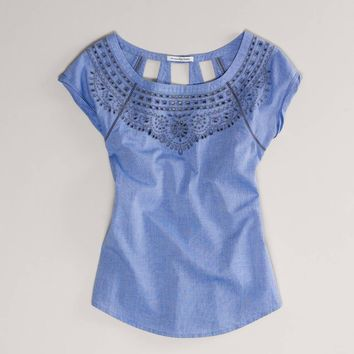 AE Eyelet Blouse   American Eagle Outfitters