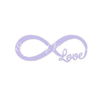 Infinity Love Car Decal - Love Infinity Car Sticker