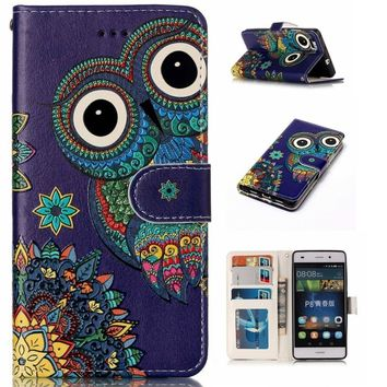Magnetic Pattern Wallet Flip PU Leather Phone Case Cover For iPhone Samsung Galaxy Huawei