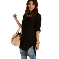 Black Upgrade You Tunic Top
