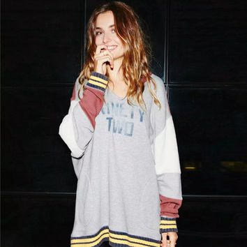 Women Patchwork Oversized Hoodies Relaxed Hoodie Casual Pullovers Super Comfy Cozy Pullover Hooded Tops