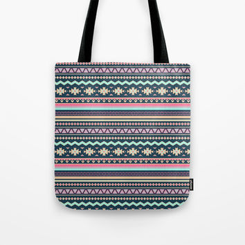 Colorful Aztec Tribal Pattern Tote Bag by Smyrna