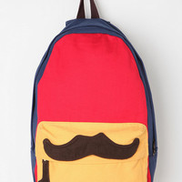 Carrot Colorblock Mustache Backpack - Available in Red and Grey