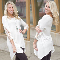How Sweet It Is Tunic (Ivory) - Piace Boutique
