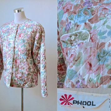 Vintage Phool - Quilted Jacket - Made In India - 70s 80s - Boho Hippy Festival