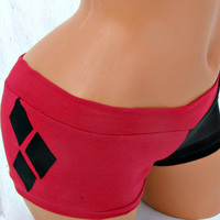Harley Quinn Batman XS-XL costume Cosplay Arkham booty shorts Roller Derby or Panties