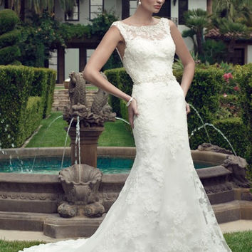 Casablanca Bridal 2146 Beaded Lace Fit & Flare Wedding Dress